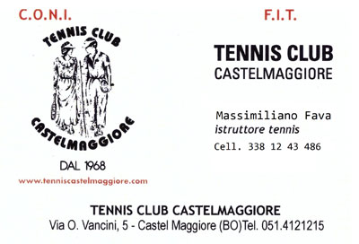 3 Dati Massimiliano fava tennis